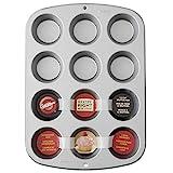 Wilton Recipe Right® Molde para Muffins, Cupcakes o Magdalenas de 12 cavidades con base de 5cm, 03-3118