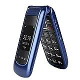 Uleway gsm Teléfono Móvil Simple para Ancianos con Teclas Grandes,SOS Botones,ácil de Usar telefonos basicos para Mayores (Azul)