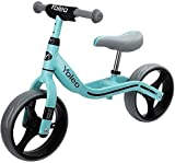 YOLEO Bicicleta sin Pedales, Sillín Regulable 32-41cm, Bicicleta Equilibrio para Niños 2+ Años, Balance Bike, Azul
