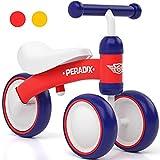 Peradix Bicicleta sin Pedales, Adecuado para Bebés de 10 a 36 Meses, Juguetes Triciclos Bebes y Niño,Correpasillos Bebe,Bici sin Pedales Niña y Niño (Rojo)