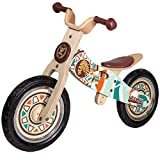 WOOMAX - Bicicleta sin pedales de madera, 85x42x58 cm, sillín ajustable, bicicleta iniciación, bicicleta niños 2 a 5 años, bici niños, 25 Kg, indian (85369)