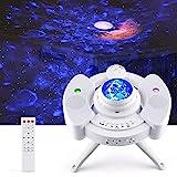 Proyector Estrellas, Proyector de Lámparas Luna, Luz Nocturna Océano, 43 Modo de Luz, Altavoz de Música Bluetooth Incorporado, Temporizador y Sensor de Sonido, para Niños, Adulto, Cumpleaños Fiesta