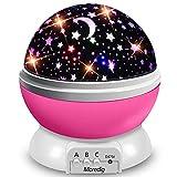 Moredig Lampara Proyector Infantil, 360° Rotación y 8 Modos Iluminación Proyector Estrellas, Luz de Nocturna para Niños y Bebés Cumpleaños, Día de los Reyes, Navidad, Halloween(Rosa)