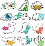 Cortadores Galletas Dinosaurio, Moldes Galletas Infantiles, Moldes de Dinosaurios para Pastel, para Niños Dinosaurios Tematica Cumpleaños Decoracion (Dinosaurios 11pcs)