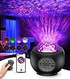 Tesoky proyector estrellas, LED de Luz Nocturna con control remoto y altavoz de música Bluetooth, Lampara Estrellas Proyector para el ambiente del dormitorio de los niños Fiesta de cumpleaños en casa