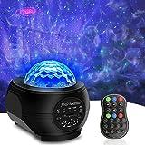 SUNOVO Proyector de Luz Estelar, LED Proyector de Luz Estrellas Galaxia, Altavoz Bluetooth con Mando a Distancia para Niños Regalos para Adultos Regalos para el Hogar Decoración de La Noche