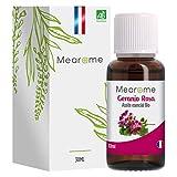 Aceite Esencial Geranio Rosa Puro 30 ml, 100% Natural y Bio | Cuidado y Salud de Piel, Cabello, Desodrante Natural | Ideal para Difusor Humidificador Ultrasónico Aromaterapia | Fabricado en Francia