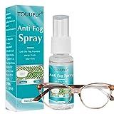 Spray Antivaho Gafas,Spray Antivaho,Anti Fog Spray,Anti Fog Spray for Glasses,para Gafas,Máscara de Esquí,Teespejos de Baño,Plastico,20ML