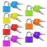 Chudian 7Pcs Candado Colores con Llave Candado Maleta, Candados Pequeños con Llave Candado Coloridos Son Fáciles de Distinguir, Cerradura de Seguridad para Equipaje Maleta Viaje y Mochila (7 Colores)