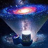 Lampara proyector estrellas bebe - Proyector estrellas techo con cable USB proyector luz bebe, Lampara proyector infantil rotación de 360 grados luz nocturna infantil
